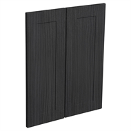 Kaboodle Black Forest Alpine Corner Wall Cabinet Doors - 2 Pack