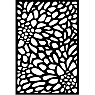 Matrix 1800 x 1200 x 9mm Charcoal Bloom Decor Screen With Frame
