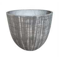 Northcote Pottery 30 x 25cm Grey/White Medium Willow Pot