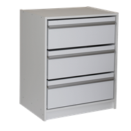 Multistore 745 x 608 x 450mm White Storage Unit with Drawers