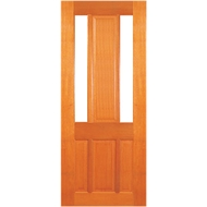 Woodcraft Doors 2040 x 820 x 40mm Modern French Clear Safety Glass Entrance Door