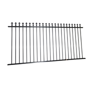 Protector Aluminium 2400 x 1200mm Black Spear Top Boundary And Garden Fence Panel