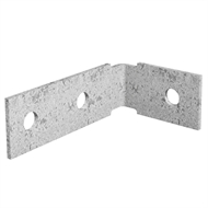 Dunnings 60 x 100 x 35mm M10 Galvanised Angle Bracket