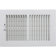 Accord 10 x 30cm White Metal Wall Vent
