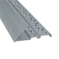 Roberts 3.3m Silver Commercial Pinned Naplock Carpet Trim - 10 Pack