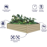 The Organic Garden Co 200 x 100 x 41cm Paperbark Raised Garden Bed