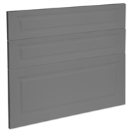 Kaboodle 900mm Smoked Grey Heritage 3 Drawer Panels