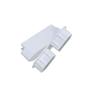 Protector Aluminium 40 x 30 x 75mm White Friction Fit Louver Adaptor - 4 Pack