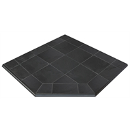 Scandia 1250 x 1250mm Slate Hearth Pad - Corner Installation