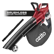 Ozito Power X Change 18V Brushless Blower Vac And Mulcher - Skin Only