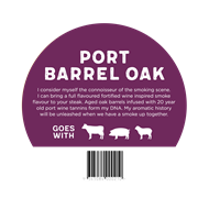 Smokin 5kg BBQ Wood Pellets - Port Barrel Oak