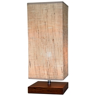 Cafe Lighting Walnut Panda Table Lamp