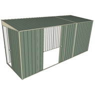 Build-a-Shed 1.5 x 4.5 x 2m Sliding Door Tunnel Shed with Double Sliding Side Doors - Green