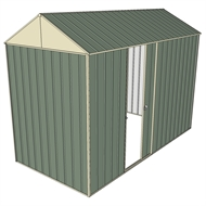 Build-a-Shed 1.5 x 3.0 x 2.3m Single Sliding Side Door Gable Shed - Green
