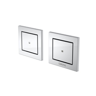 Caroma Chrome Invisi Series II Rectangle Dual Flush Buttons