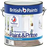 British Paints Paint&Prime™ 4L Gloss White Doors, Windows & Trim