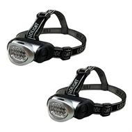 Eiger 10 LED Headlight Torch - 2 Pack