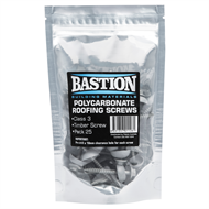 Bastion Type 17 Class 3 Polycarbonate Roofing Screws  - 25 Pack