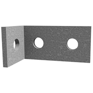 Dunnings 40 x 80 x 40 x 5mm M12 Galvanised Angle Bracket