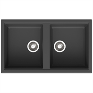 Mondella Black Rumba Double Bowl Sink