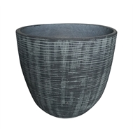 Northcote Pottery 36 x 30cm Large Willow Pot - Slate
