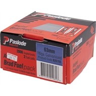 Paslode 63 x 1.6mm 20° Galvanised Impulse Angle Brad With Fuel - 2000 Pack