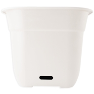 HomeLeisure 500mm White Square WaterSaver Contemporary Planter