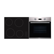 Bellini 60cm Ceramic Cooktop and 60cm Stainless Steel Electric Oven Package