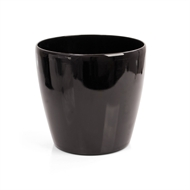 Eden 38 x 35cm Black Self Watering Round Pot