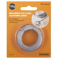 Everhang 25m 10kg Load Braided Picture Hanging Wire