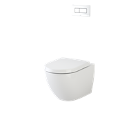 Caroma WELS 4 Star 3-4.5L/Min White Invisi Series II® Urbane Wall Hung Suite With Arc Standard Seat And Concealed Cistern