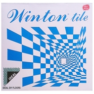 Winton Ideal Series 30.5 x 30.5cm Black-White Check Self Stick Vinyl Tile - 45 Pack