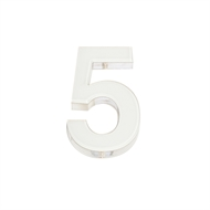 Sandleford 90mm White Acrylic 5 Numeral