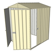 Build-a-Shed 1.5 x 1.5 x 2.3m Gable Single Sliding Side Door Shed - Cream