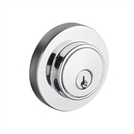 Lane Polished Chrome Slimline Round Double Cylinder Deadbolt