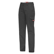 Hard Yakka Ladies Dobby Cargo Pant - 14 Charcoal