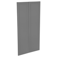Kaboodle 900mm Smoked Grey Heritage Pantry Doors - 2 Pack