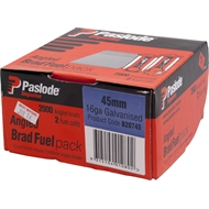 Paslode 45 x 1.6mm 20° Galvanised Impulse Angle Brad With Fuel - 2000 Pack