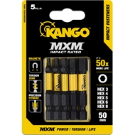 Kango 50mm HEX Impact MXM Fasteners - Mixed 5 Pack