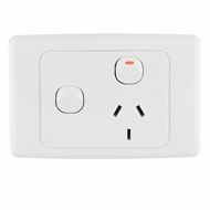 DETA Single Power Point with Extra Switch