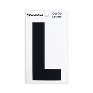 Sandleford 85mm L Black Cut Out Self Adhesive Letter