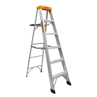 Gorilla 1.8m 150kg Single Side Aluminium Step Ladder With Tray