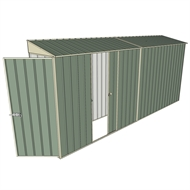 Build-a-Shed 0.8 x 4.5 x 2m Hinged Door Tunnel Shed with Single Sliding Side Door - Green