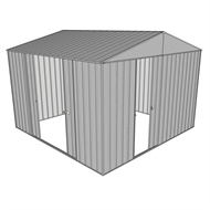 Build-a-Shed 3.0 x 3.0 x 2.3m Gable Double Sliding Side Door Shed - Zinc