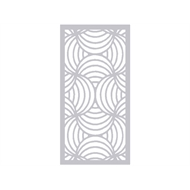 Protector Aluminium 940 x 1240mm Profile 10 Decorative Framed Panel - Surfmist