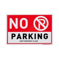 Sandleford 300 x 200mm No Parking Plastic Sign
