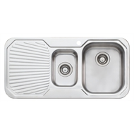Oliveri 980mm 1.5 Right Hand Bowl Petite Sink With 1 Tap Hole