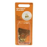 Everhang Framing Brass Plated Keyhole Plates - 3 Pack