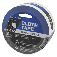 Norton Bear 50mm x 25 White Cloth Tape