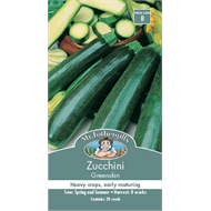 Mr Fothergill's Greenskin Zucchini Vegetable Seeds